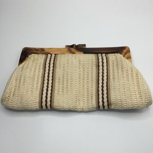 Vintage Boho Crochet Frame Clutch